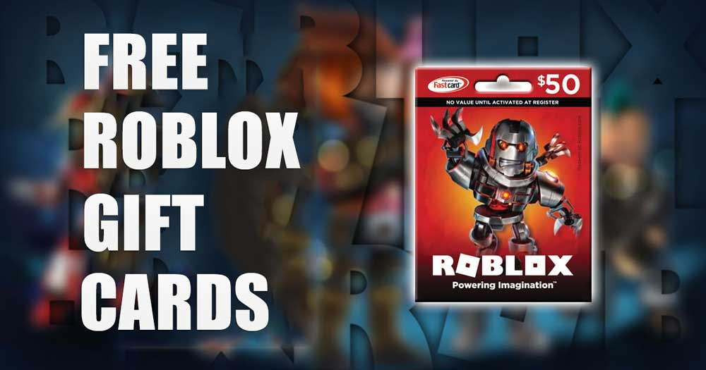 free roblox gift cards